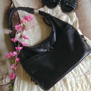 Tignanello Handbags - Tignanello Black Leather Hobo Bag