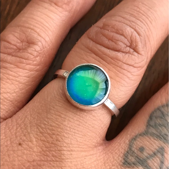a3e89ed31 Jewelry | Small Sterling Silver Mood Ring | Poshmark