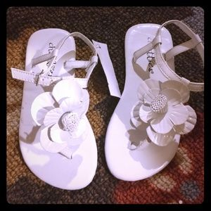 Chatties Other - White flower girl's sandals