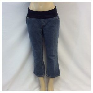 LIZ LANGE Maternity Cropped Jeans
