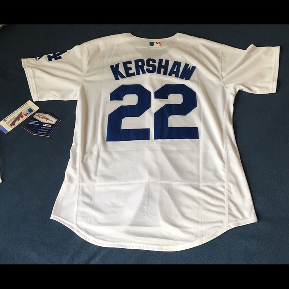 bc3e69990d9 Los Angeles Dodgers  22 Kershaw white jersey New