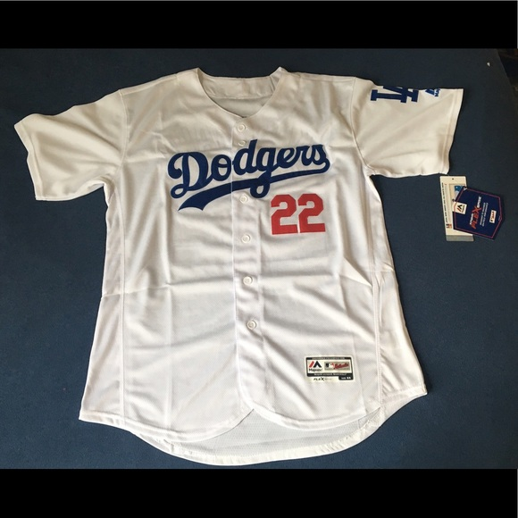 outlet store 9468d 6327a Los Angeles Dodgers #22 Kershaw white jersey New NWT