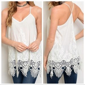 Tops - Beautiful White Lace Top