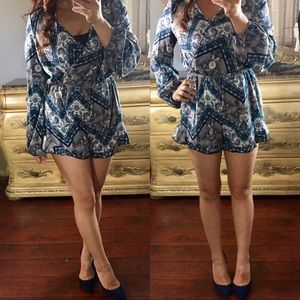 Pants - CLEARANCE 💕 S•M•L Blue Long Sleeve Romper