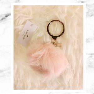 kate spade Accessories - Kate Spade Pink Pom Pom Key Fob