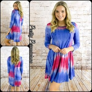 Pretty Persuasions Dresses & Skirts - SALE 🎉NWT Festival Tie Dyed Hippie Dress