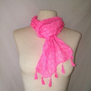 2for1 BRIGHT Pink Scarf
