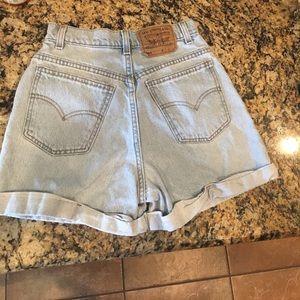 Levi's Pants - Vintage High Rise Levi Shorts Light Wash 4