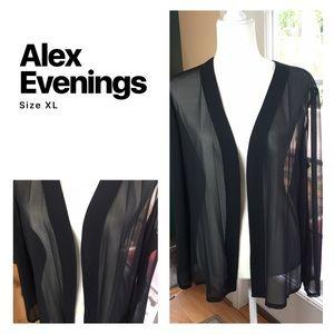Alex Evenings Tops - Alex Evenings Sheer Cardigan