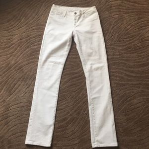 Goldsign Denim - Goldsign white, distressed straight leg jeans, 28