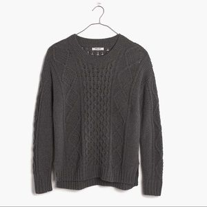 Madewell Sweaters - Madewell Classic Cableknit Sweater