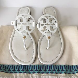 Tory Burch Shoes - Tory Burch white patent Miller sandals