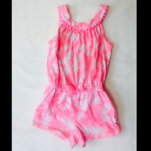 Other - Pink tie dye Jumpsuit with Pompom trim