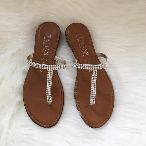 e552caac8 Italian Shoemakers Shoes - Rhinestone Sandals