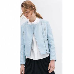 Zara Jackets & Blazers - NWT Zara Biker Faux Leather Moto Jacket