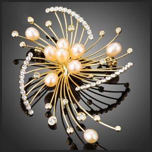 Jewelry - 🆕 Swarovski Crystals Art Deco Brooch Pin DF101