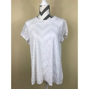 Dorothy Perkins Tops - 🌷Dorothy Perkins White Collared Lace Blouse