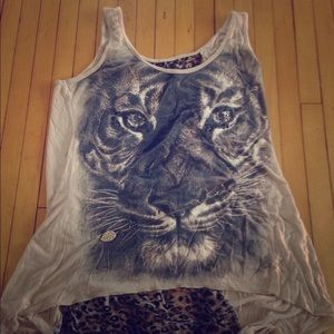 Lipstick Boutique Tops - Lipstick Brand Medium Fit Tiger Tank with Necklace