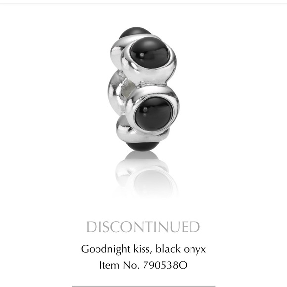 3f54b52bf Pandora Jewelry   Discontinued Charm Goodnight Kiss Onyx   Poshmark