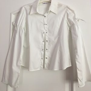 Limited Too Other - Girls white button down