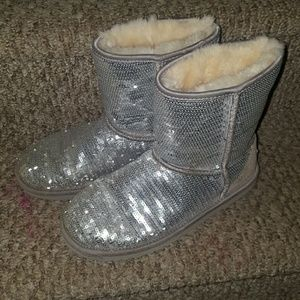 UGG Shoes - SEQUIN SILVER Ugg Boots ~ AMAZING Bling Style