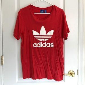 ADIDAS Originals red shirt size M