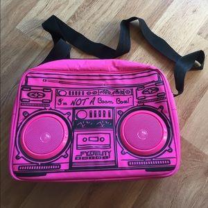 Fydelity Handbags - FYDELITY Le Boom Box G-Force RARE Magenta Bag