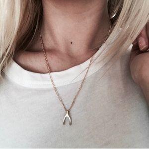 Brandy Melville Jewelry - ✨Gold Wishbone Necklace✨