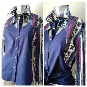 "ROUGHRIDER Tops - Vintage Western ""ROUGHRIDER"" Shirt"