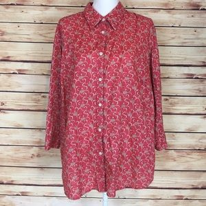 Ralph Lauren Floral Button Down Shirt Pink Size 3X
