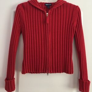 Limited Too Other - Girls zip up red sweater