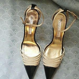 Christian Lacroix Shoes - Christian Lacroix Black and Cream heels. Size 9