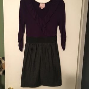 "Cara Couture Dresses & Skirts - ""Couture"" Dress purple/slate grey - Sz. Med."