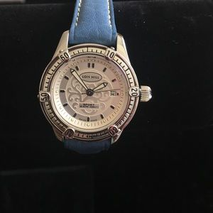 Lois Hill Accessories - Rare Lois Hill Ladies Blue Leather Round Watch