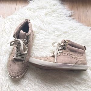 H&M Taupe Suede Hightop Sneakers