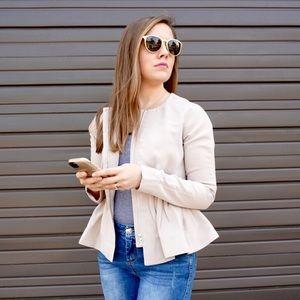 Jackets & Coats - Blush | Tan Fit & Flare Jacket