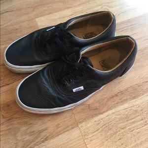 Vans Other - VANS Men's Black Leather Sneakers sz 9 10.5 women