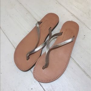 Calypso St. Barth for Isapera Silver Sandals - NEW