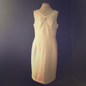 Spiegel Dresses & Skirts - 💲final💲White sleeveless dress w iridescent sheen