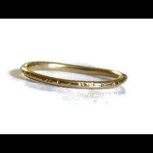 nejd Jewelry - ❗️sale❗️Gold etched Stacking Ring Sizes 2-13