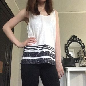 NWOT sequined Striped J. crew Tank