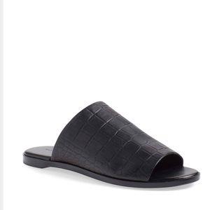 Rachel Zoe Black leather slide sandal Size 7
