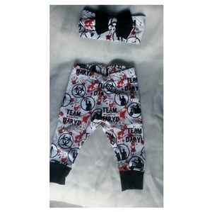 The walking dead baby girl pant set