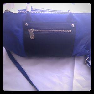 Olivia + Joy Handbags - Blue and black shoulder/handbag