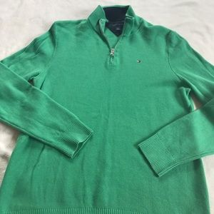 Tommy Hilfiger Other - Tommy Hilfiger Waffle Green Half Zip Pullover