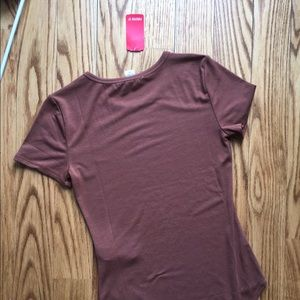 Forever 21 Tops - NWT Brown Bodysuit - Women's M