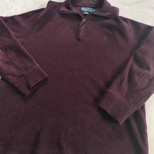Polo by Ralph Lauren Other - Polo Ralph Lauren Maroon Pullover Half Zip Sweater