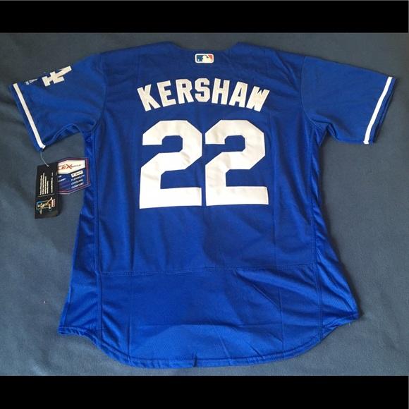 56294879ce4 Los Angeles Dodgers  22 kershaw blue jersey New L