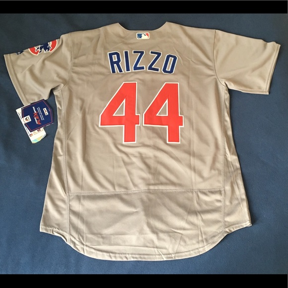 sports shoes c8821 42f67 Chicago Cubs Grey #44 Rizzo New jersey NWT