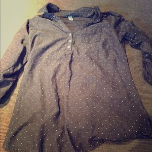 Old Navy Tops - Old Navy maternity denim look button tunic